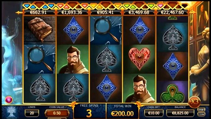 Play Holmes and the Stolen stones slot by Yggdrasil on Mr Green casino