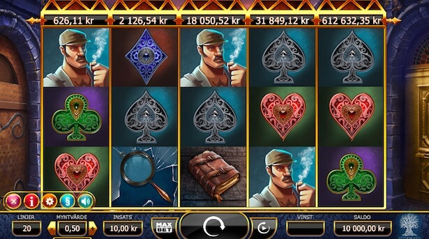 Play Holmes and the Stolen Stones slot on Maria Casino