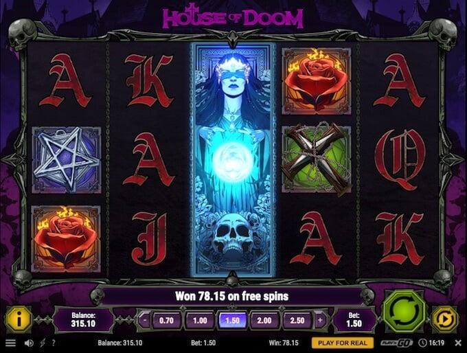 House of Doom slot base game