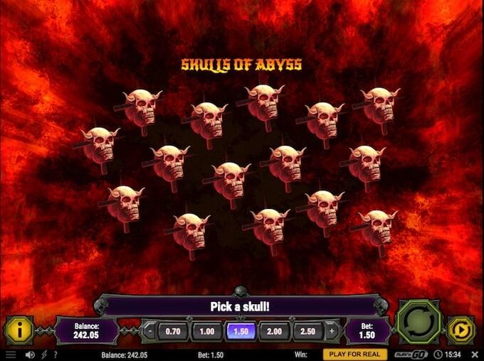 House of Doom bonus game