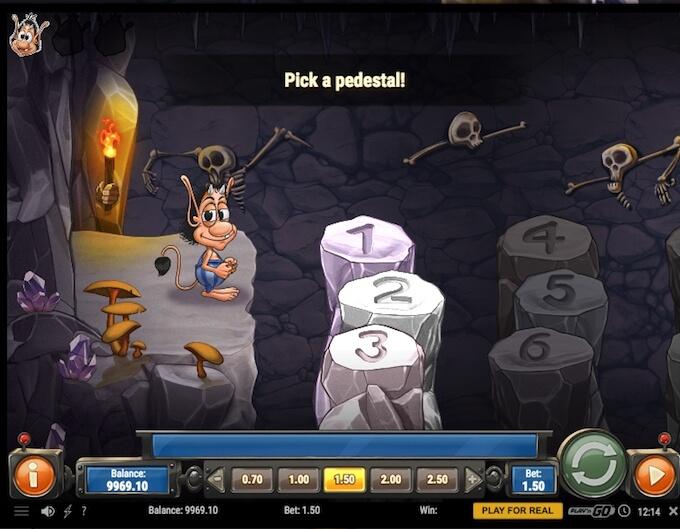 Hugo 2 scull cavern bonus game