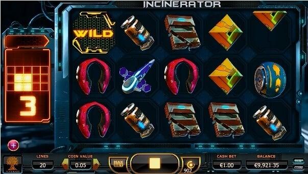 Incinerator slot features