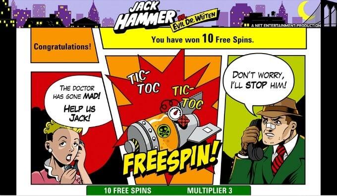 Play Jack Hammer slot at Dunder casino