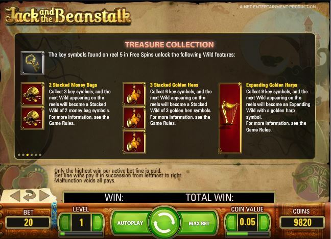 Play Jack and The Beanstalk slot on Mr Green casino