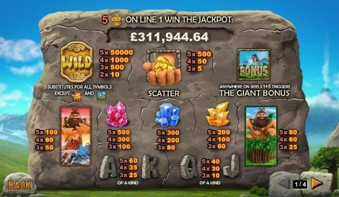 Play Jackpot Giant at Bet365 casino