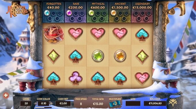 Jackpot Raiders free spins