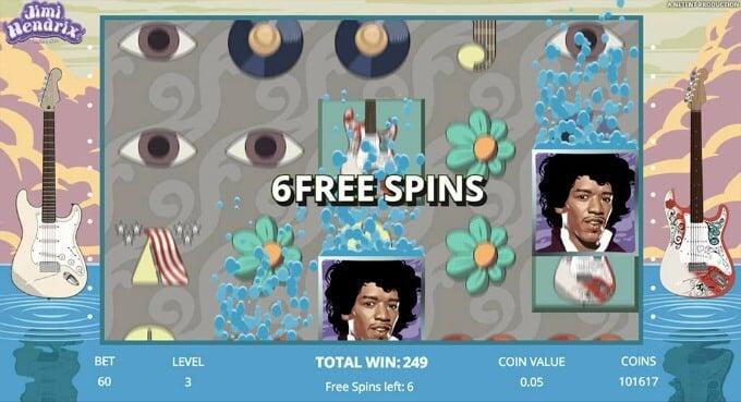 Play Jimi Hendrix slot on Dunder Casino