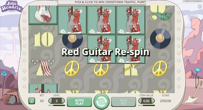 Play Jimi Hendrix slot on Unibet Casino
