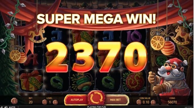 Jingle Spins slot big win