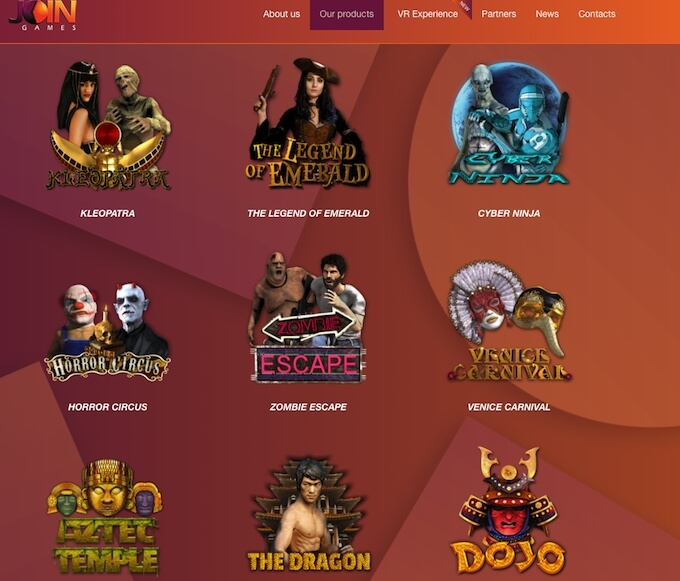 Join Games selection