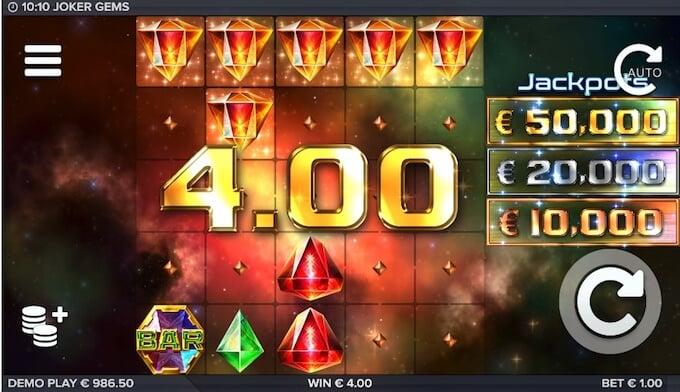 Joker Gems slot cluster pays
