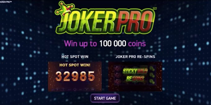 Play Joker Pro slot at Dunder Casino