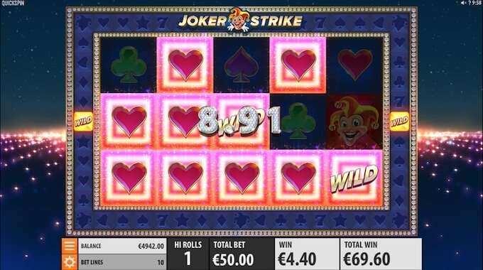 Joker Strike slot big win