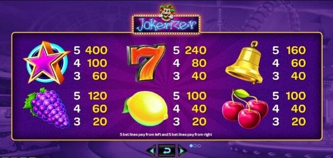Play Jokerizer slot at Mr Green casino