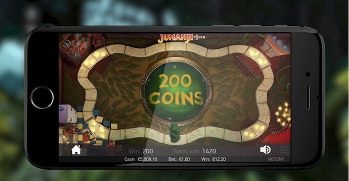 Jumanji slot bonus game