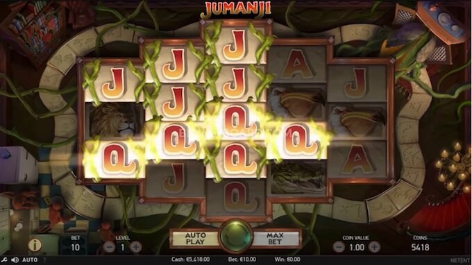 Jumanji slot Sticky Vines feature