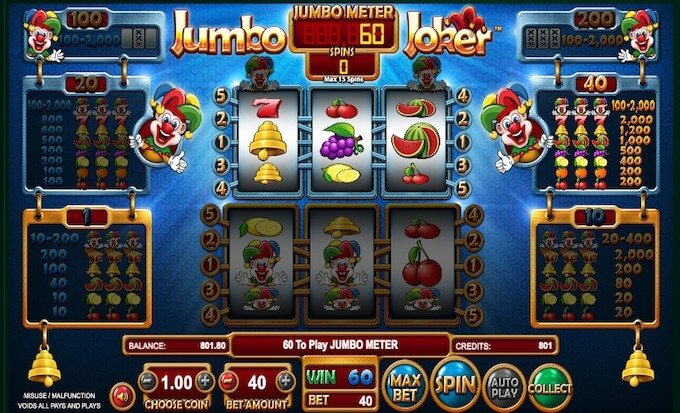 Jumbo Joker bonus mode