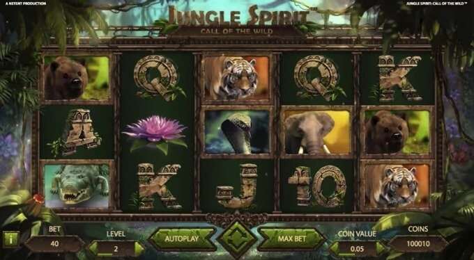 Play Jungle Spirit slot at LeoVegas casino