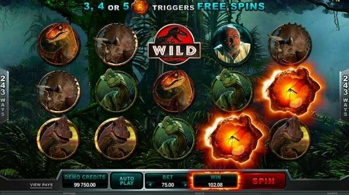 Play Jurassic Park slot at Betsafe Casino