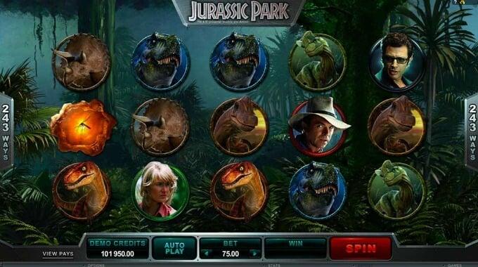 Play Jurassic Park slot at LeoVegas Casino