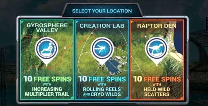 Play Jurassic World slot at LeoVegas casino