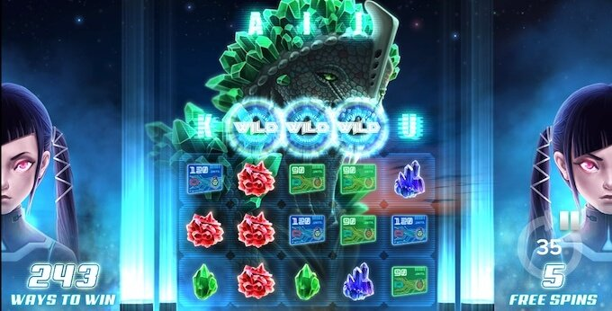 Kaiju slot free spins round
