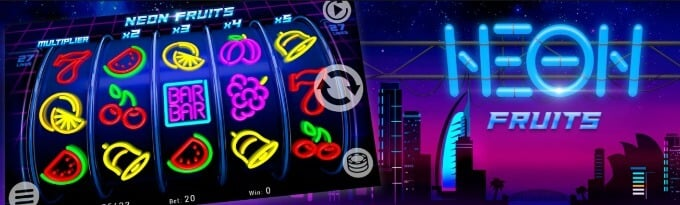 Kajot games - Neon Fruits slot