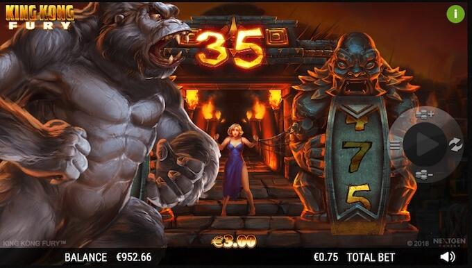 King Kong Fury slot free spins
