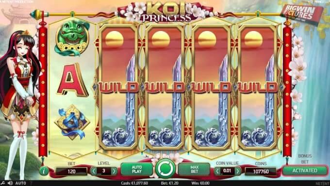 Play Koi Princess slot at Betsafe casino