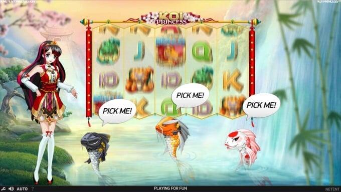 Play Koi Princess slot at Dunder Casino