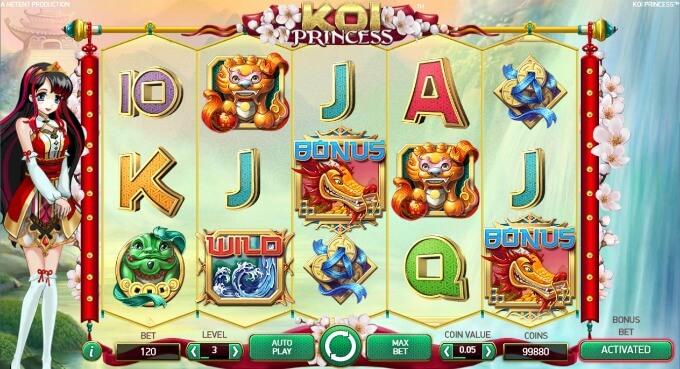 Play Koi Princess slot at LeoVegas casino