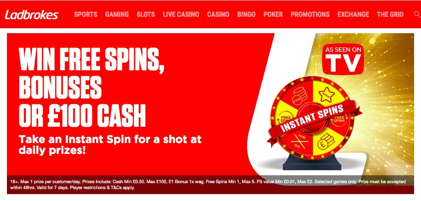 new casino wheel at Ladbrokes