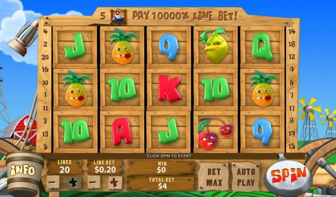 Play funky fruit farm slot on ladbrokes casino