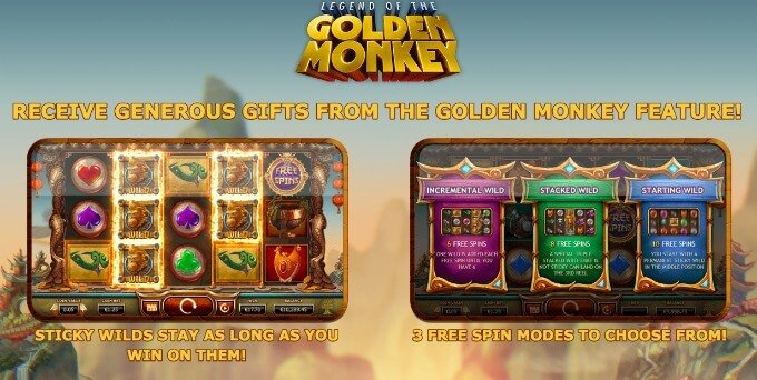 Play Legend of the Golden Monkey Slot on Unibet casino