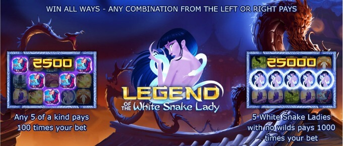 Play Legend of the White Snake Lady slot at Videoslots casino