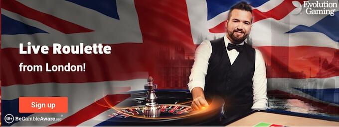 LeoVegas live casino UK