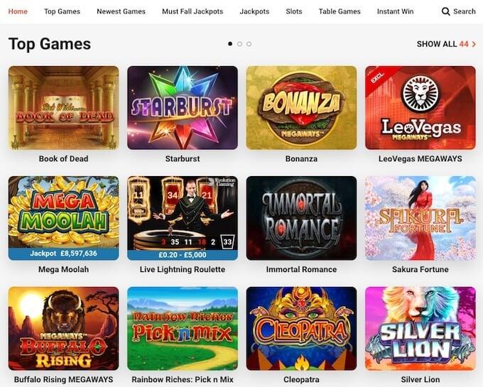 slot games at LeoVegas