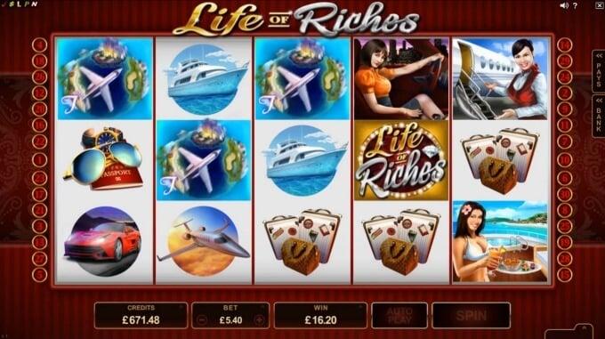 Play Life of Riches slot at LeoVegas casino