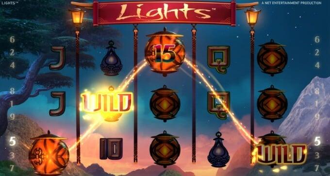 Play Lights slot at Dunder Casino