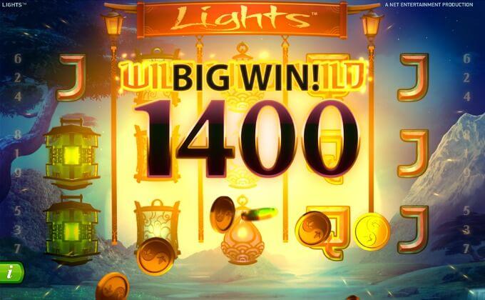 Play Lights slot at Comeon casino