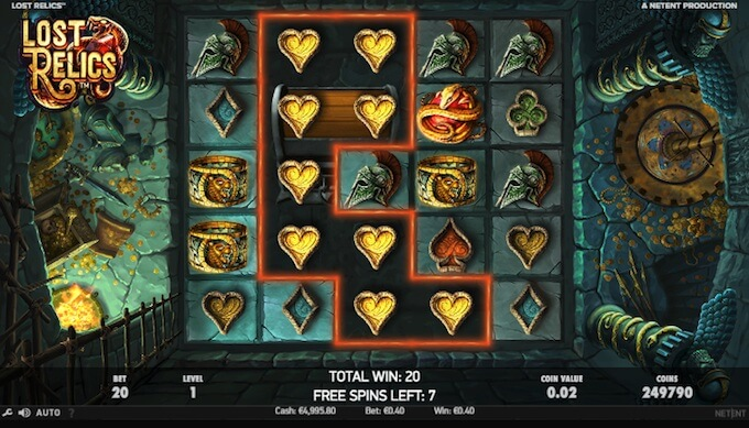 Lost Relics free spins feature