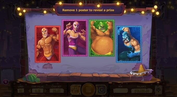 Lucha Maniacs slot Poster Bonus game