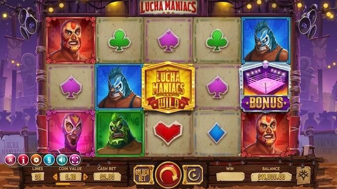 Lucha Maniacs slot base game