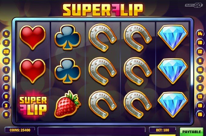 Play Super Flip slot on Maria casino