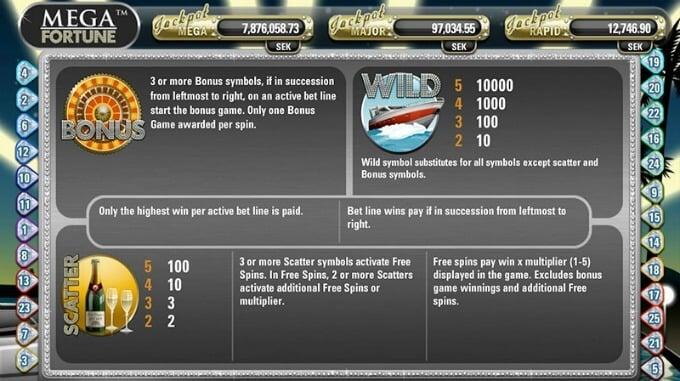 Play Mega Fortune slot at Betsafe casino