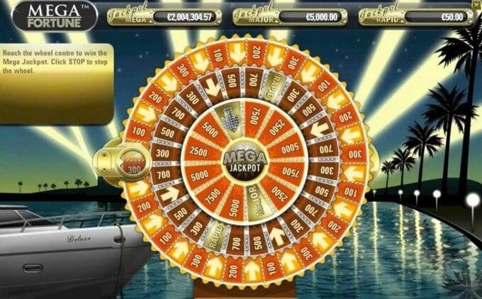 Play Mega Fortune slot at Rizk casno