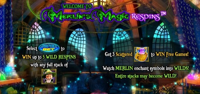 Play Merlin's Magic Respins slot at Rizk casino