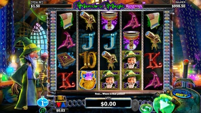 Play Merlin's Magic Respins slot at Dunder Casino