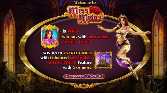 Play Miss Midas slot at LeoVegas casino