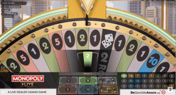 monopoly live wheel
